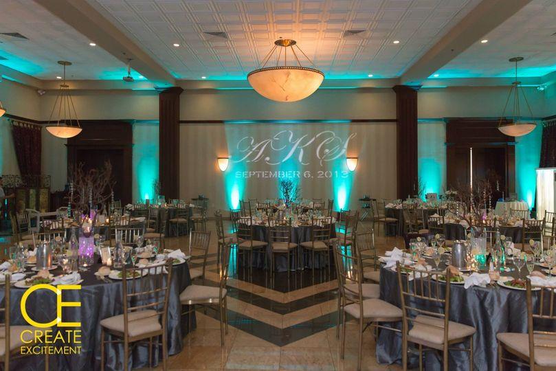 Ballroom with up-lights