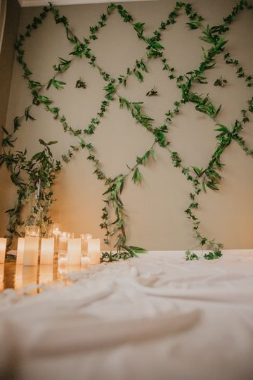 Greenery Backdrop for Ceremony