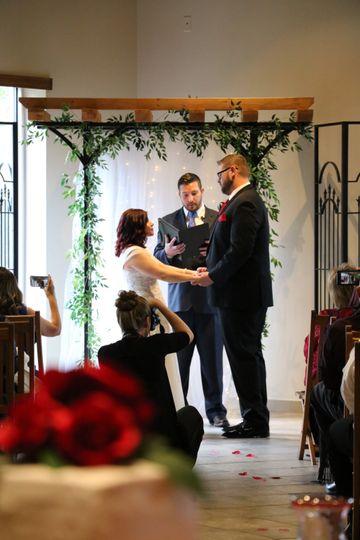 Ceremony at Arch Indoor