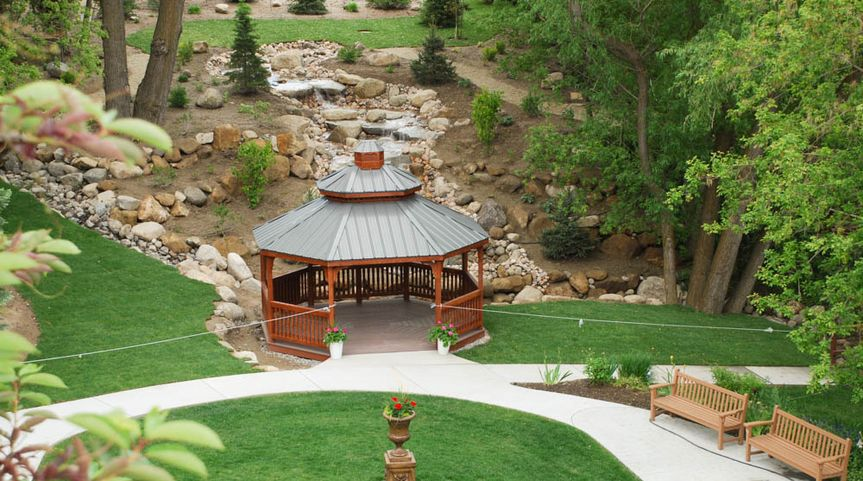 Gazebo & Waterfall