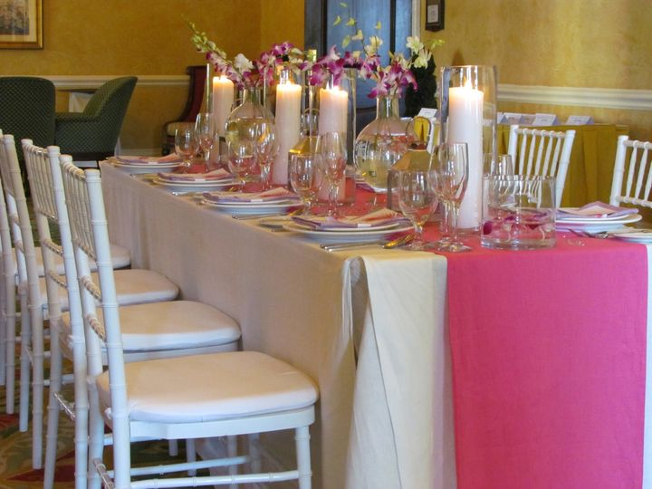 a beautiful table set for a beautiful wedding r