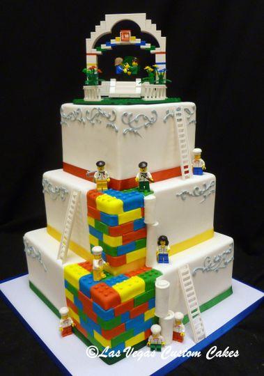 Lego Themed Wedding Cake