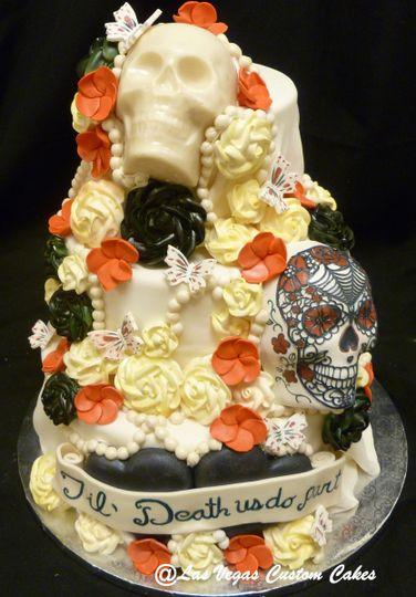 Til Death Us Do Part Wedding Cake