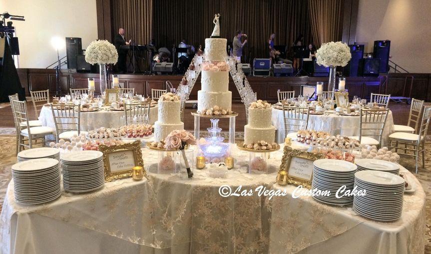 wedding christinas dessert table