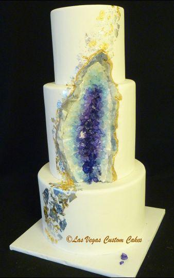 Floral Design Rhinestone Cake