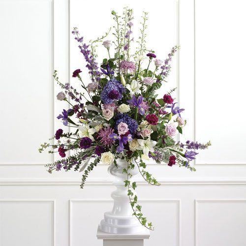 Purple Pedestal Arrangement
