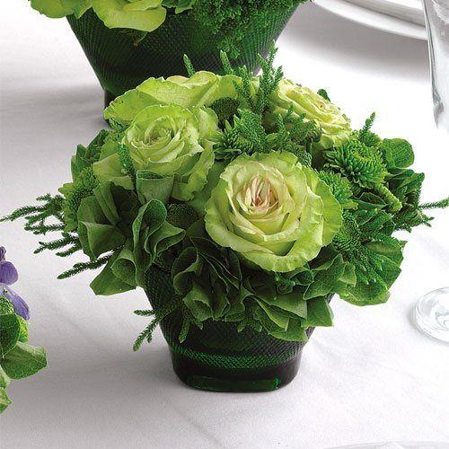 Green Reception Centerpiece