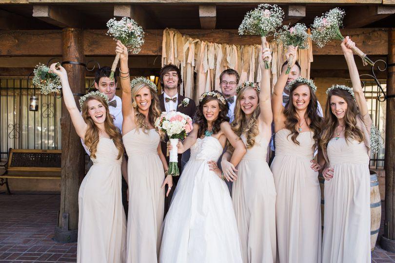jenna ben wedding bridal party 0028raisedhands