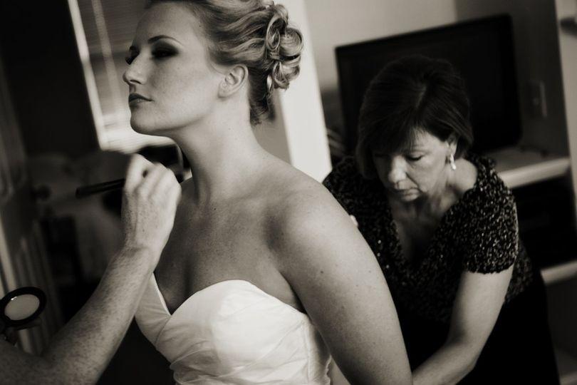 Bride in sepia