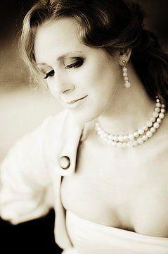 Bridal portrait in sepia