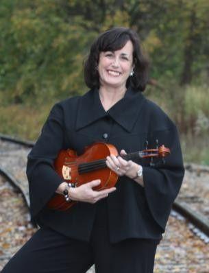 Musician holding violin