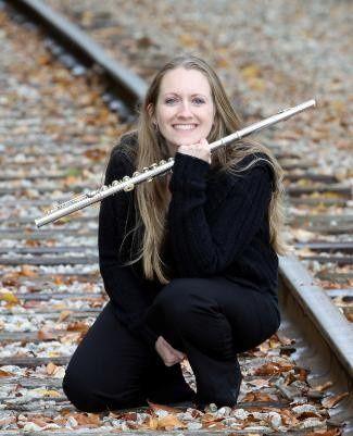 Musician holding flute
