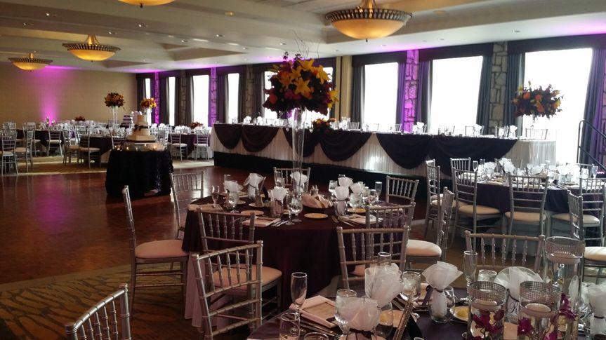 Reception dining setup