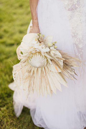 africain chic bride bouquet