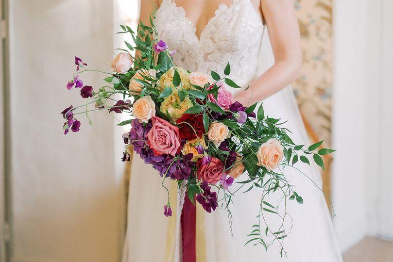 Colourful bride bouquet