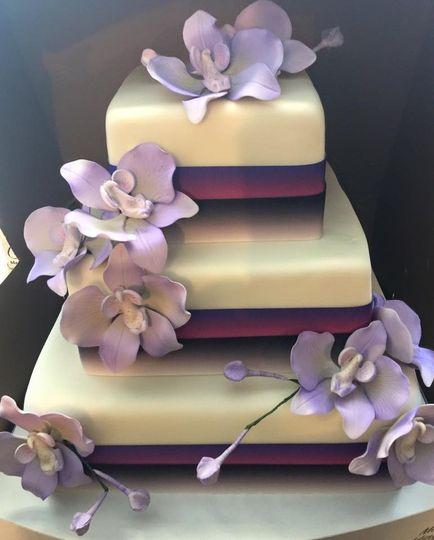 Three tier square cake