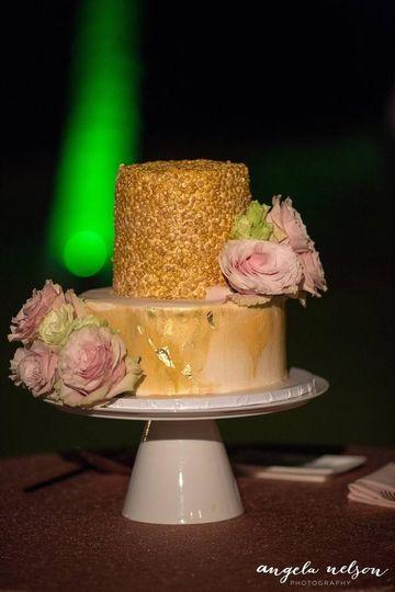 Two tier caramel cake