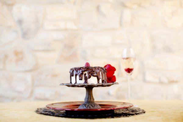 Romantic Chocolate Ganache Cake