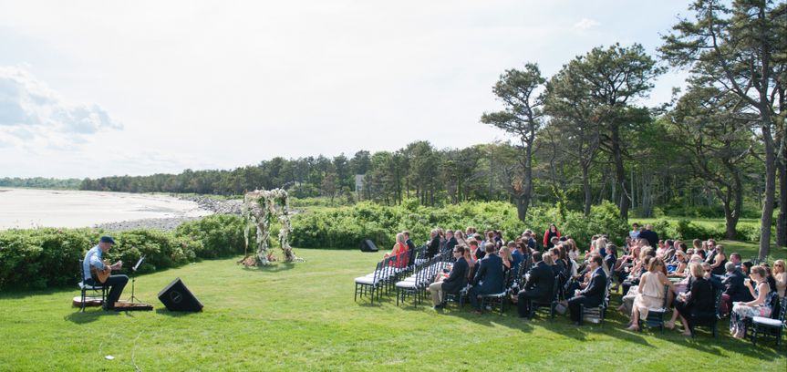 Wedding ceremony by the water