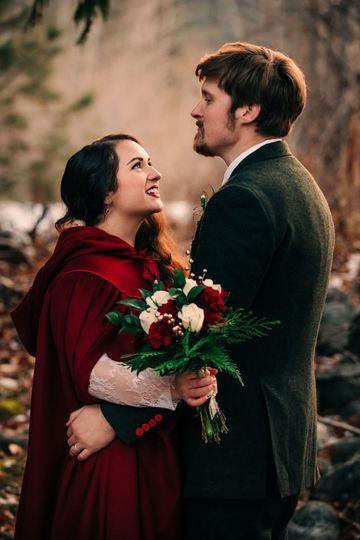 Winter wedding in Leavenworth