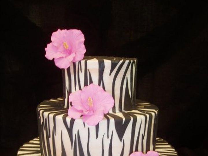 Tmx 1242765533593 Zebracake Belmont wedding cake