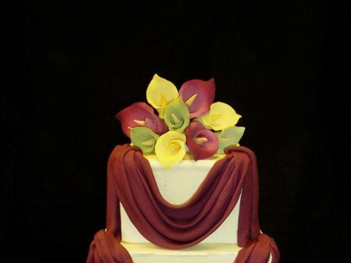 Tmx 1242765540093 Burgandyswag Belmont wedding cake