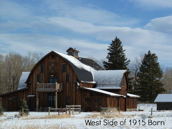 w west side of 1915 barn