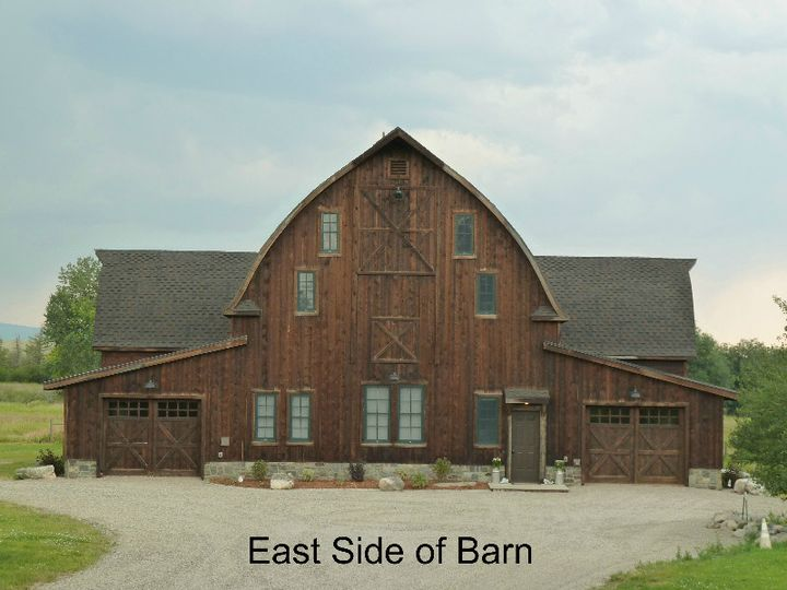 w east side of barn