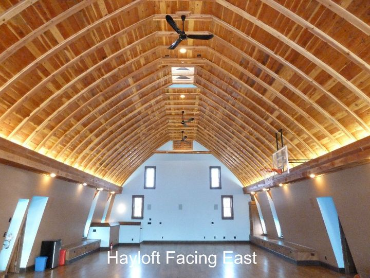w hay loft facing east