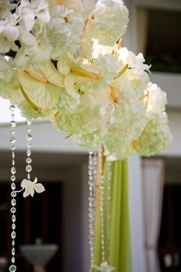 bamboo arbor floral topper