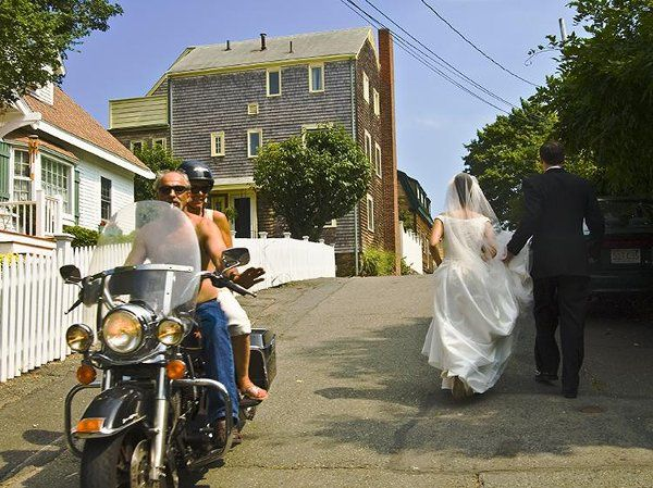 A first walk through the streets of Marblehead, MA as a married couple.