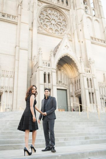 grace cathedral engagement session san francisco