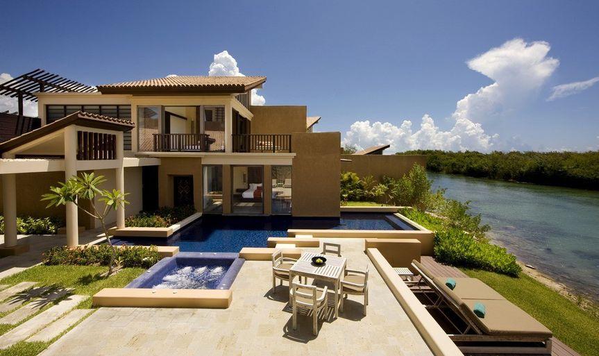 banyan tree mayakoba 2 bedroom pool villa exterior