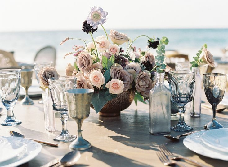 Lavander tablescape