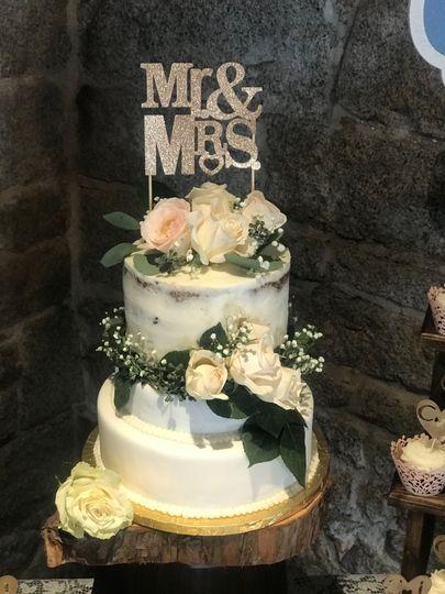 Wine Country Wedding Cake