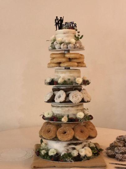 Wedding Cake w/ Doughnuts