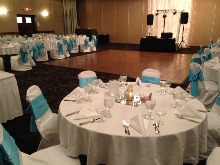Reception and dance floor set-up