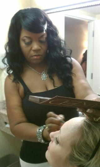 Chelleby Starr Before Picture On-set of Reallove TV Drama  Jacksonville, Fl
