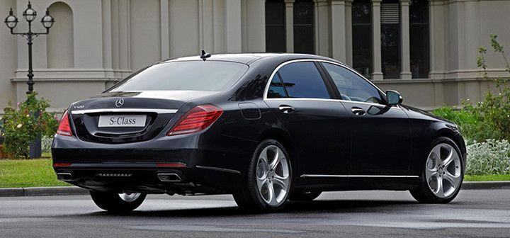 The black sedan