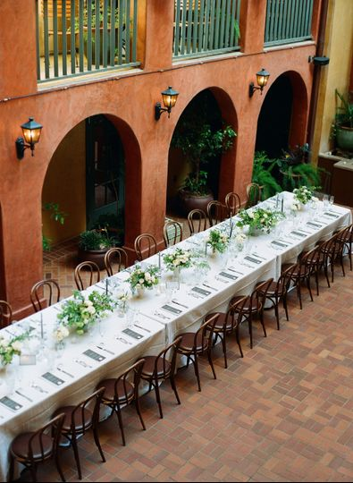 Private Courtyard Reception