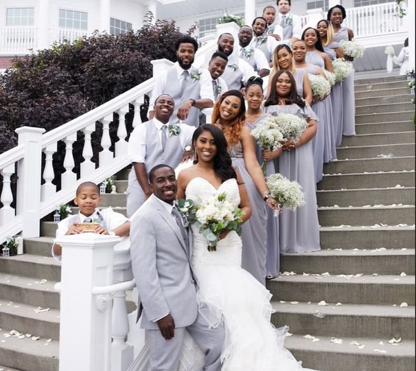 Large bridal party