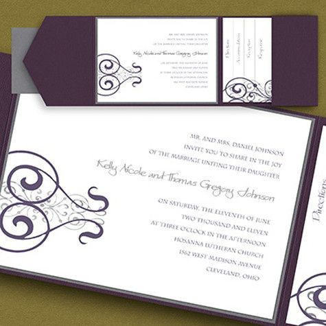 Tmx 1388424002868 Carlsonweddingpocket438 Newton Center wedding invitation