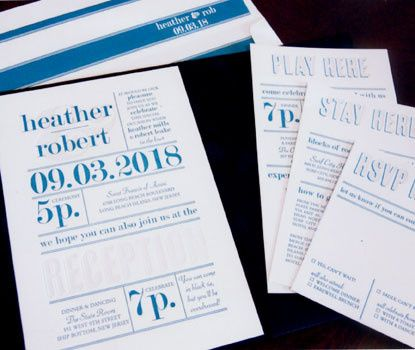 Tmx 1437769055074 Designerletterpress2 Newton Center wedding invitation