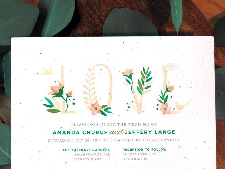 Tmx 1488477982469 Seeds Of Love Elk Grove Village wedding invitation