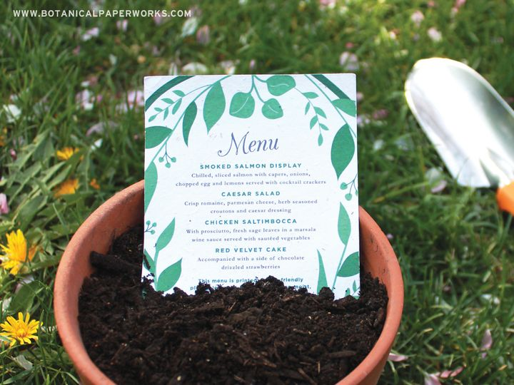 Tmx 1488478059210 Classic Greenery Menu Cards Elk Grove Village wedding invitation