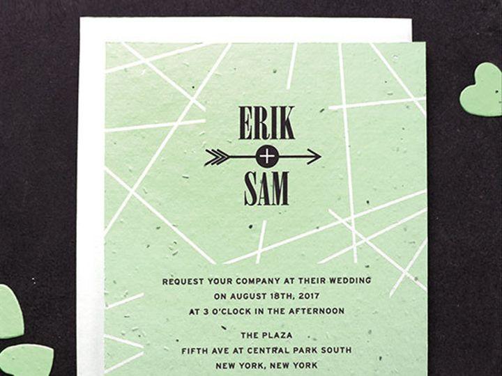 Tmx 1488579246002 Cupidsarrowseedpaperweddinginvitations.t1441115059 Elk Grove Village wedding invitation