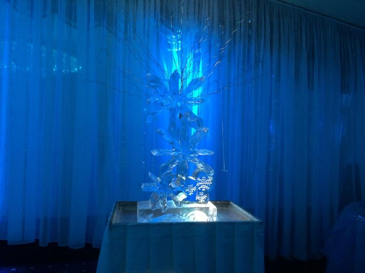 Blue crystal lighting