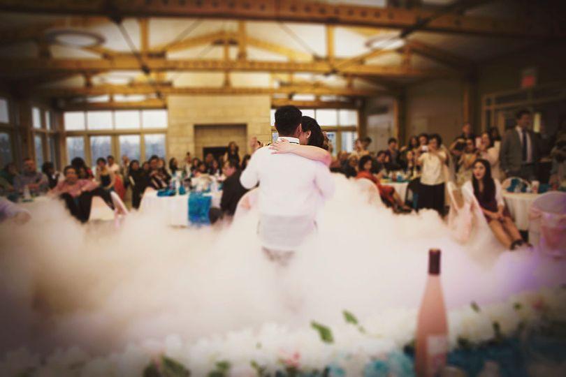 Mark & Rachel's first dance on the cloud