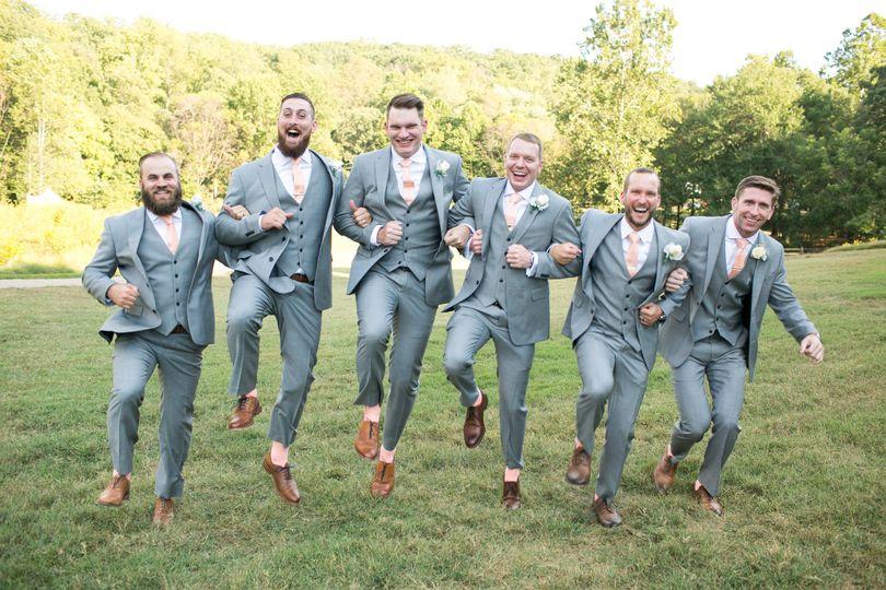 The jolly groom and groomsmen