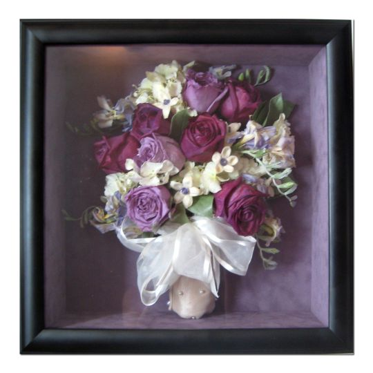 preserved lavender and purple roses